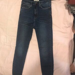 Super high waisted hush up jeans